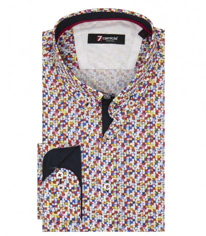 Shirt Leonardo Poplin Red Blue