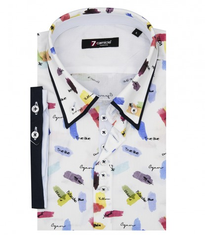 Shirt Donatello Poplin White Bluette
