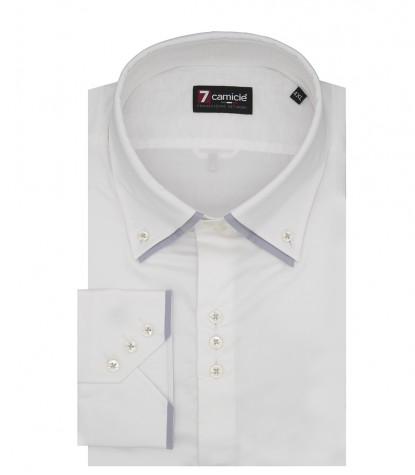 3 buttons button-down double collar slim man shirt