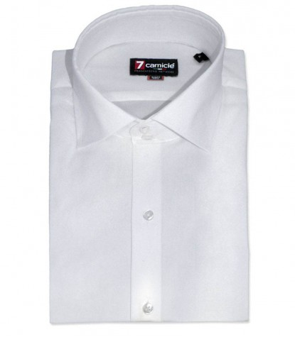 Shirt Dante stretch poplin White