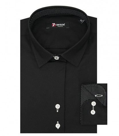 Shirt Linda stretch poplin Black