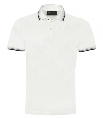 Piquet Polo Shirt Weiß