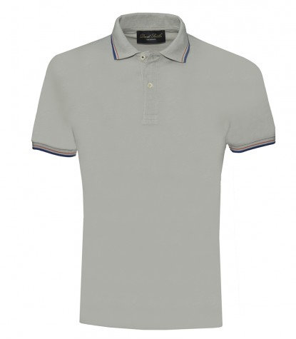 Gray Piquet Polo Shirt