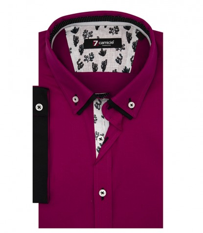 Shirt Leonardo stretch poplin Fuxia