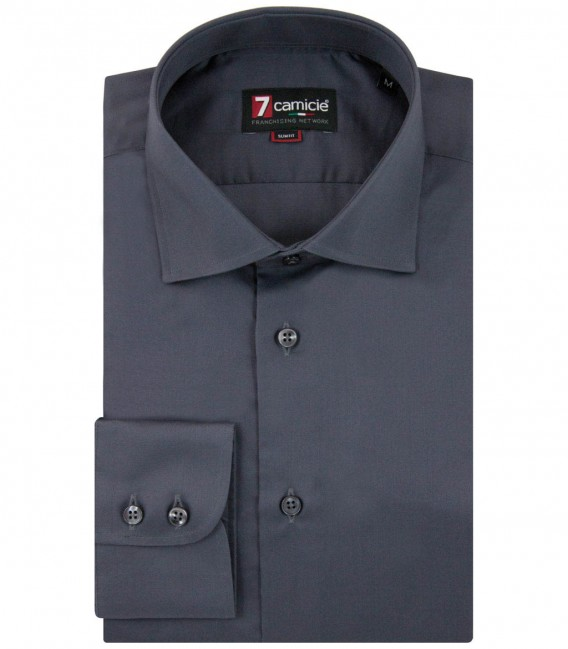 Shirt Dante Satin Dark Grey