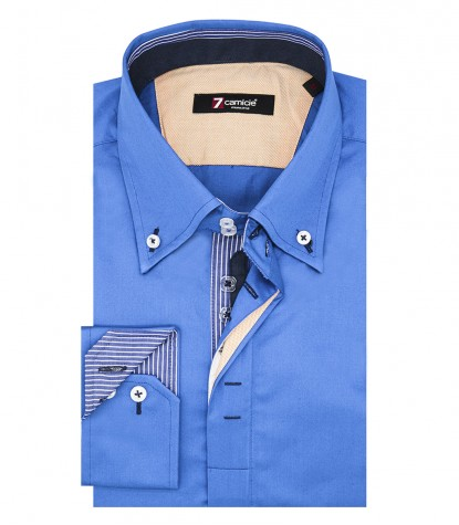 Shirt Roma Satin Sky Blue