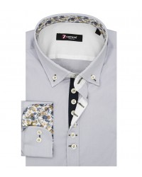 Shirt Donatello stretch poplin Grey