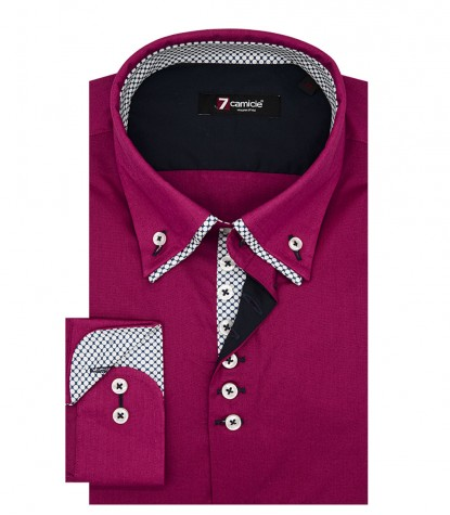 Camicia Donatello Popeline stretch Fucsia