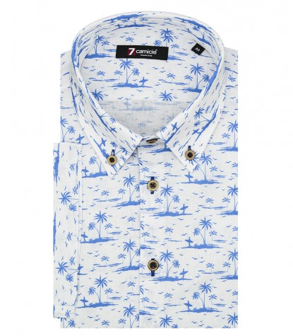 Shirt Men fantasy White Bluette