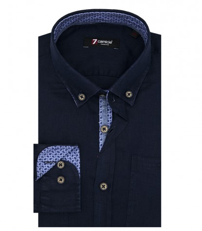 Shirt Leonardo Linen Blue
