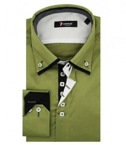 Shirt Marco Polo Satin Medium Green