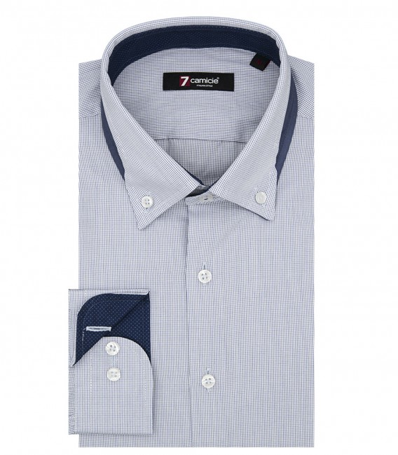 Shirt Donatello Poplin White Light Blue