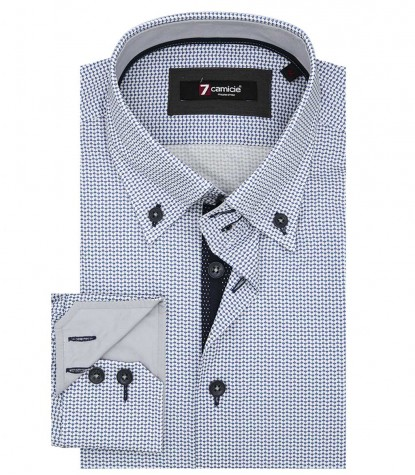 Shirt Roma Poplin BlueWhite