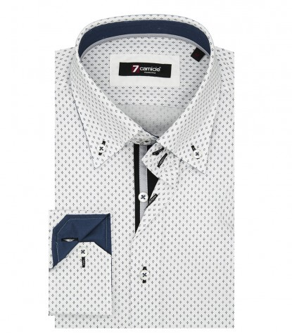 Shirt Roma Poplin White Black