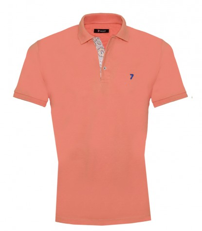 Polo Man Cotton Plain Light Orange