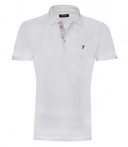 Polo Man Cotton Plain White
