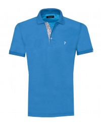 Polo Man Cotton Plain Turquoise