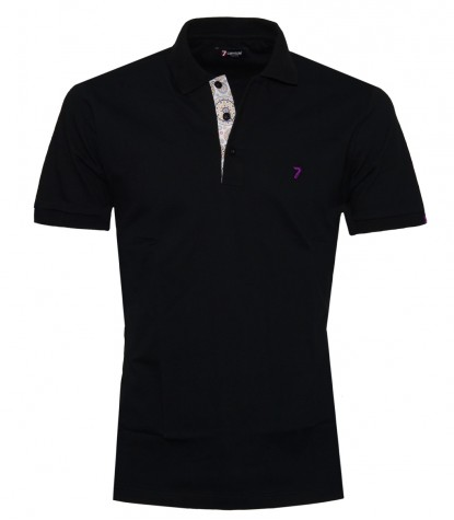 Polo Man Cotton Plain Black