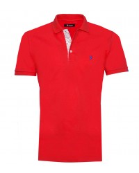 Polo Man Cotton Plain Red