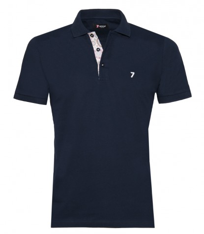 Polo Man Cotton Plain Blue