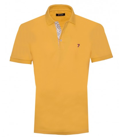 Polo Man Cotton Plain Yellow