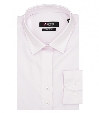 Camicia Donna 2 Bottoni Italiano Avvitata Slim No Iron Unito Rosa