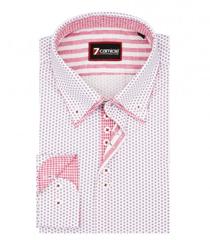 Shirt Donatello Cotton LilacWhite