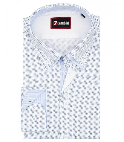 Shirt Donatello Cotton Light Blue White