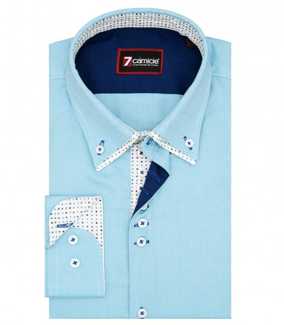 Camicia Donatello Oxford Turchese Chiaro