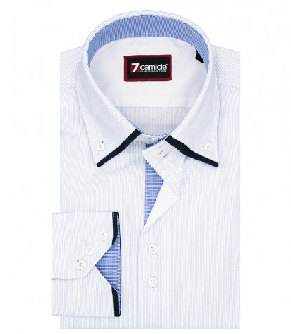 Shirt Colosseo Cotton White Light Blue
