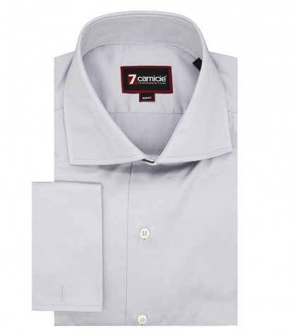 Man Shirt Dante Pearl Gray Satin Cufflinks