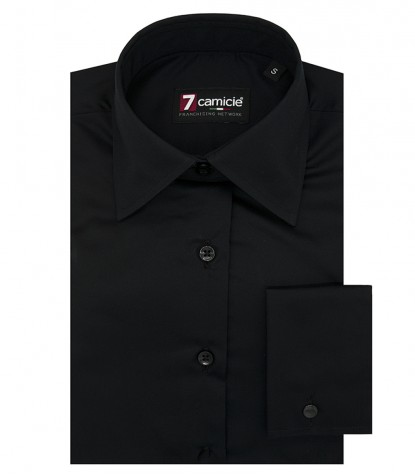Shirt Linda Satin Black