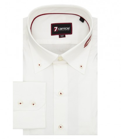 Camicia Uomo Bianca Botton Down