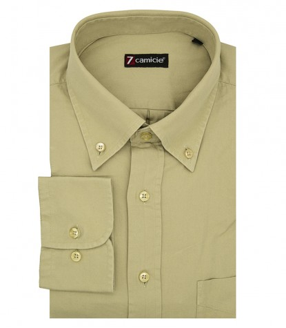 Camicia Uomo 1 bottone Button Down Verde con taschino