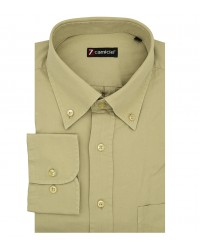 Camicia Uomo 1 botton1 Button Down Verde con taschino
