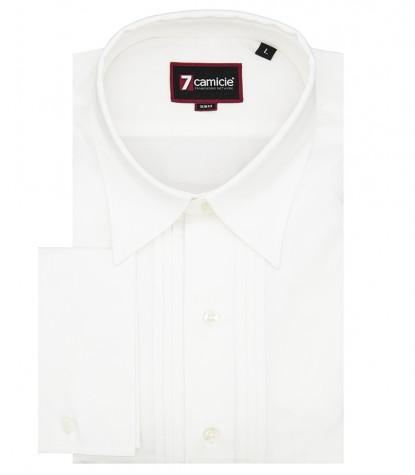 Oxford Man Shirt 1 Button Italian White
