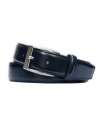 Blue leather belt