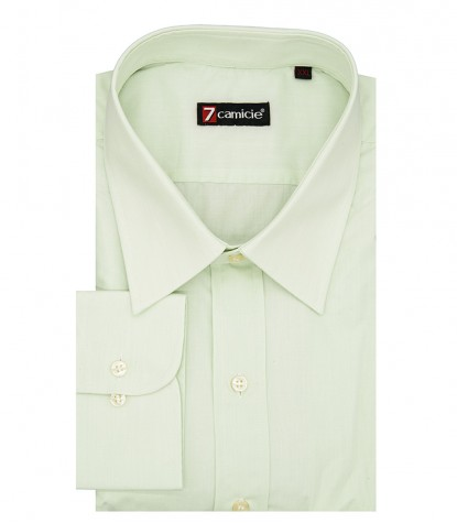 1 button French cotton shirt Green