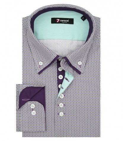 Shirt Donatello Poplin Blue Turquoise