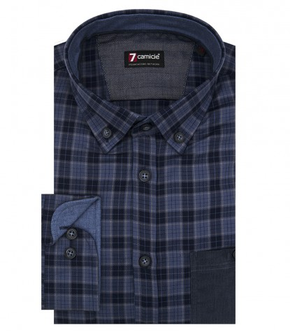 Shirt Men medium square Blue Avion Blue