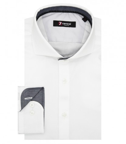 Shirt Firenze Weaved White and White