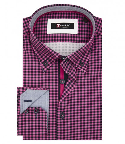 Shirt Roma Poplin Fuxia and Blue