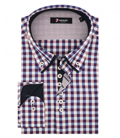 Shirt Donatello Oxford BlueRed