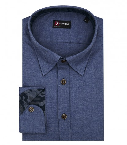 Shirt Men full color Avion Blue