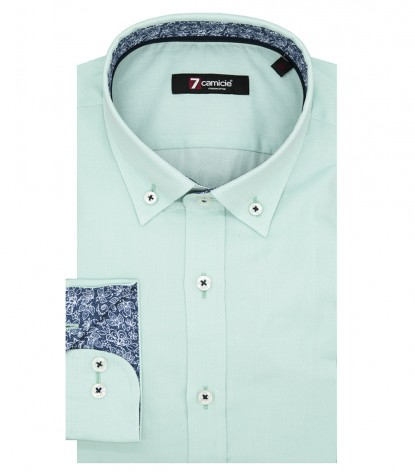 Shirt Men full color Water Green
