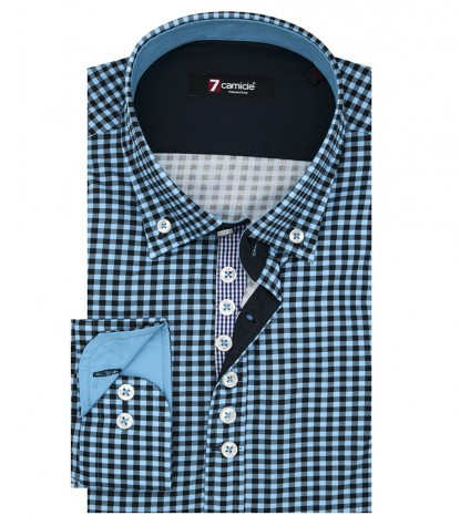Shirt Donatello Poplin Turquoise Blue