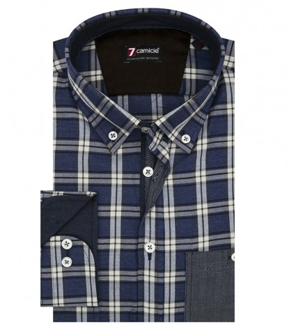 Shirt Leonardo twill Light Blue White