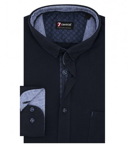 Shirt Romeo Jersey cotton Blue
