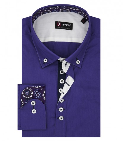 Shirt Donatello poplin Violet