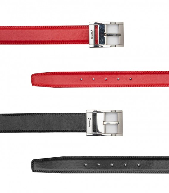 Double face black red belt